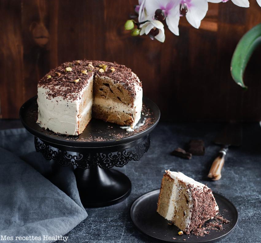 recette Healthy-quatre quarts-formage frais-epice-cannelle-banane-sans beurre-gâteau moelleux