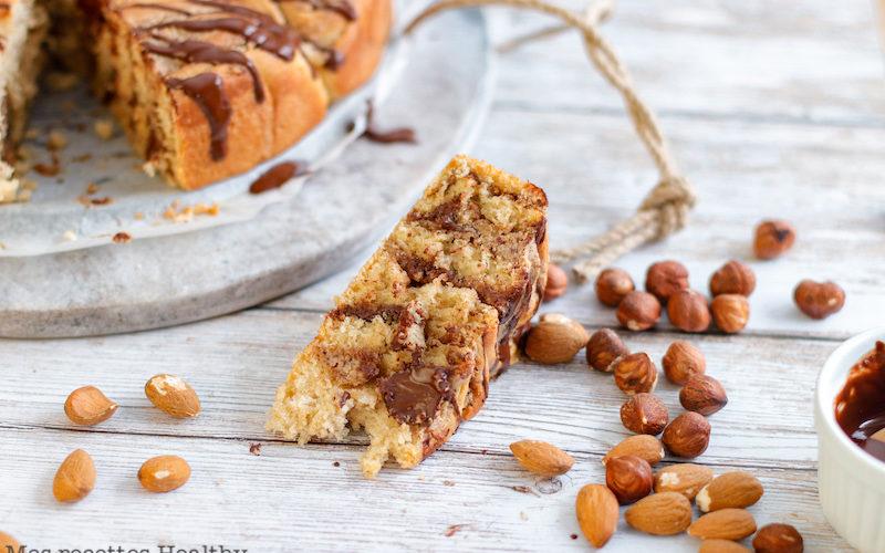 recette healthy-brioche praliné-amande-noisette-chocolat