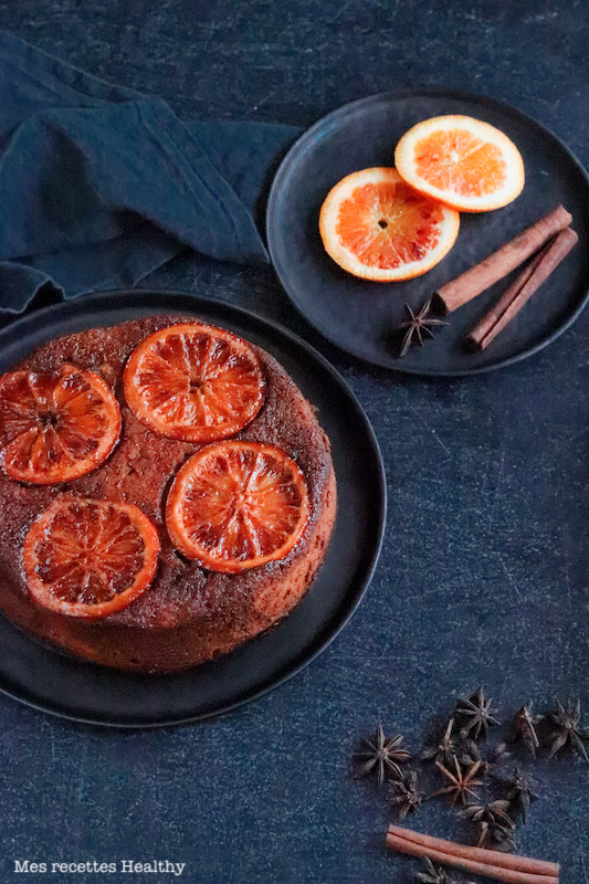 gateau renverse orange sanguine-ricotta-amande-recette healthy