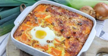 gratin potiron-poireau-oeuf-recette healthy