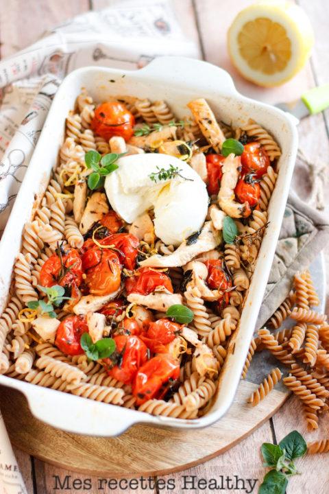 pate-penne-fusili-poulet-citron-tomate-herbes-recette healthy