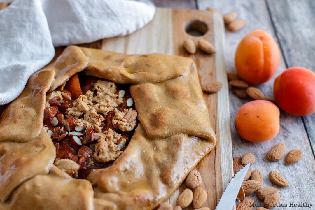 recette healthy-tarte rustique-abricot-amande-beurre de cacahuète