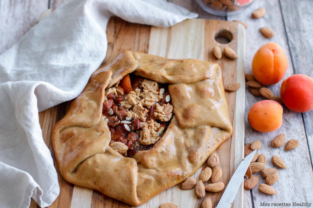 Tarte rustique aux abricots amande et cacahuète