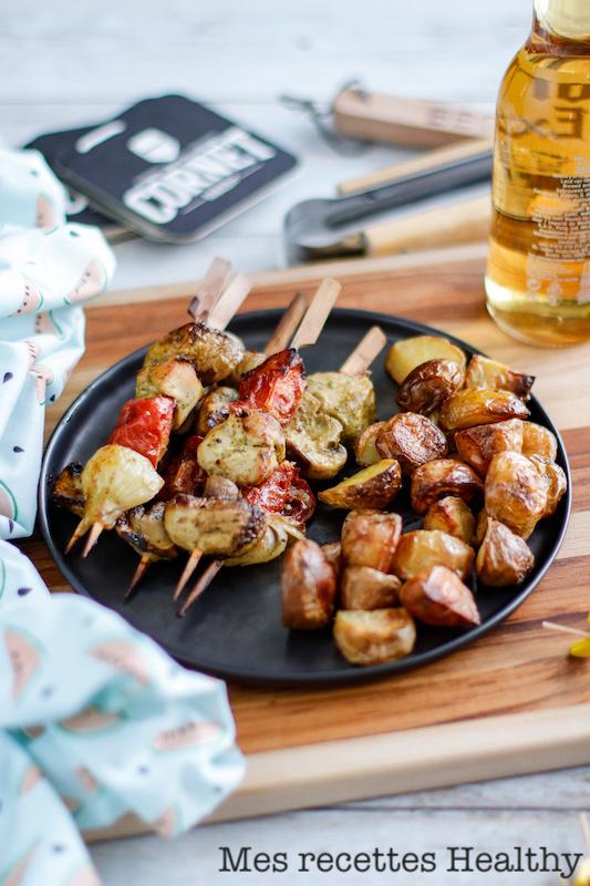 recette healthy-marinade-grillade-barbecue-brochette-legume grille