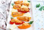 recette Healthy-poivron farci-parmesan-quinoa-lentille-bacon