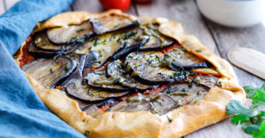 recette Healthy-tarte aubergine-tomate-tarte rustique