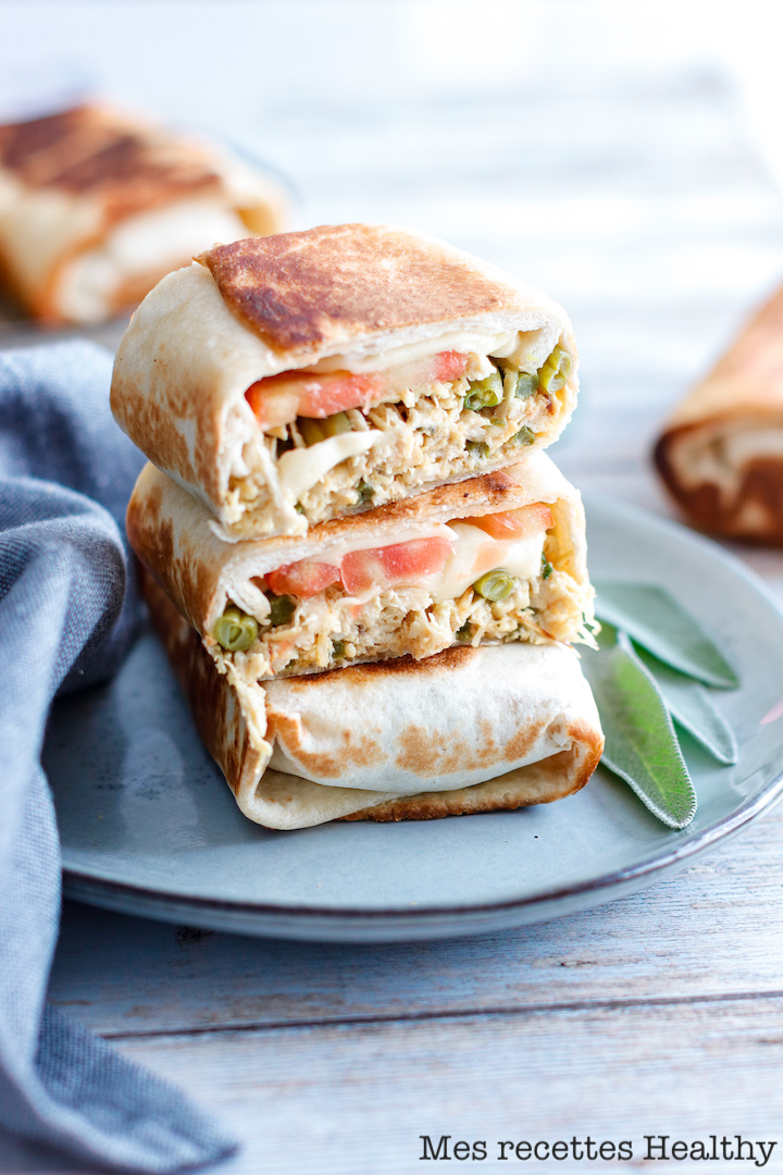 Wrap poulet mozzarella au curry