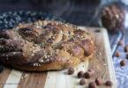 recette healthy-brioche mains-brioche tressée-pralin-amande-noisette-sans beurre-fait maison