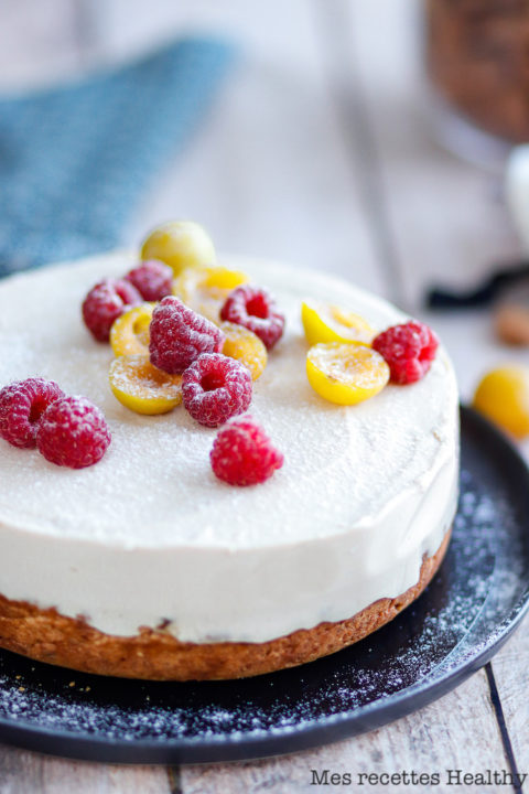 cheesecake-fianncier-amande-biscuit-mirabelle-fruit-ricotta-recette healthy