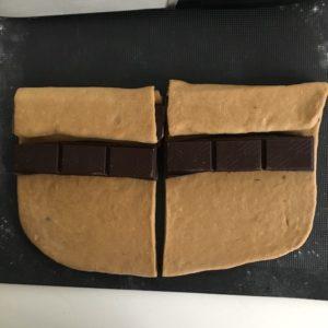 Pain au chocolat brioché sans lait