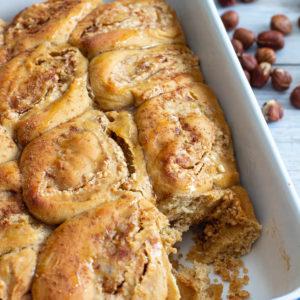 recette healthy-brioche roulée-noisette-sans beurre-épices