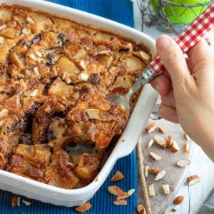 recette healthy-clafoutispoire-noisette-chocolat-sans beurre-gateau