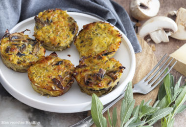 recette healthy-mini quiche-quiche sans pâté-beaufort-fromage-champignon-courge spaghetti