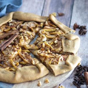 recette Healthy-tarte rustique-pomme- fruit-sirop érable-