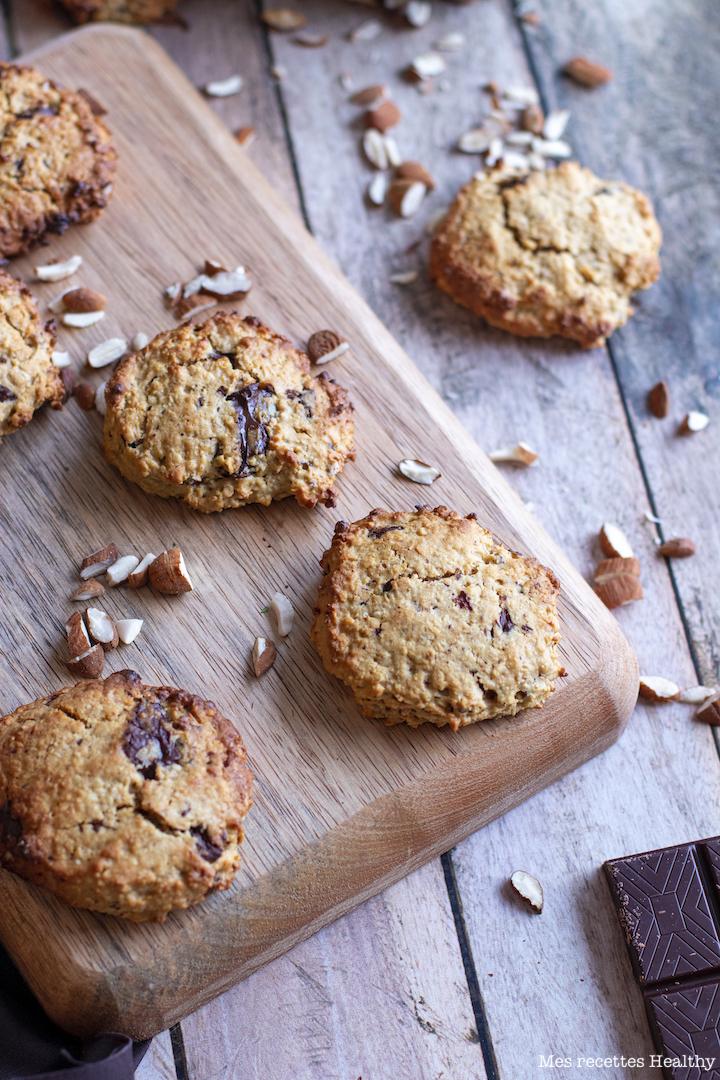 recette healthy-cookie à l'avoine-chocolat-noisette-biscuit