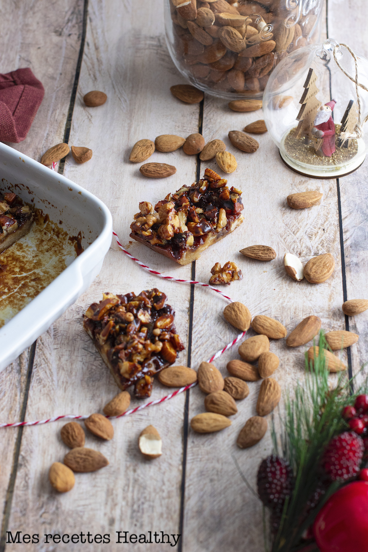 recette healthy-caramel-fruits secs-biscuit-tartelette