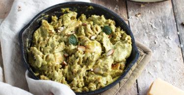 recette healthy-poulet à la crème-brocolis-parmesan