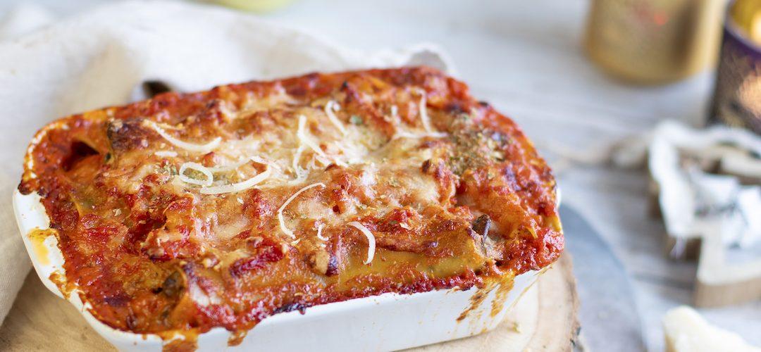 recette healthy-cannelloni-pate-italie-tomate-poulet-creme-champignon