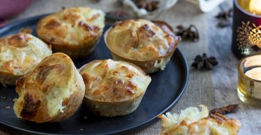 muffin salee-recette healthy-muffin au saumon-fromage-chevre frais-entree-noel-fete