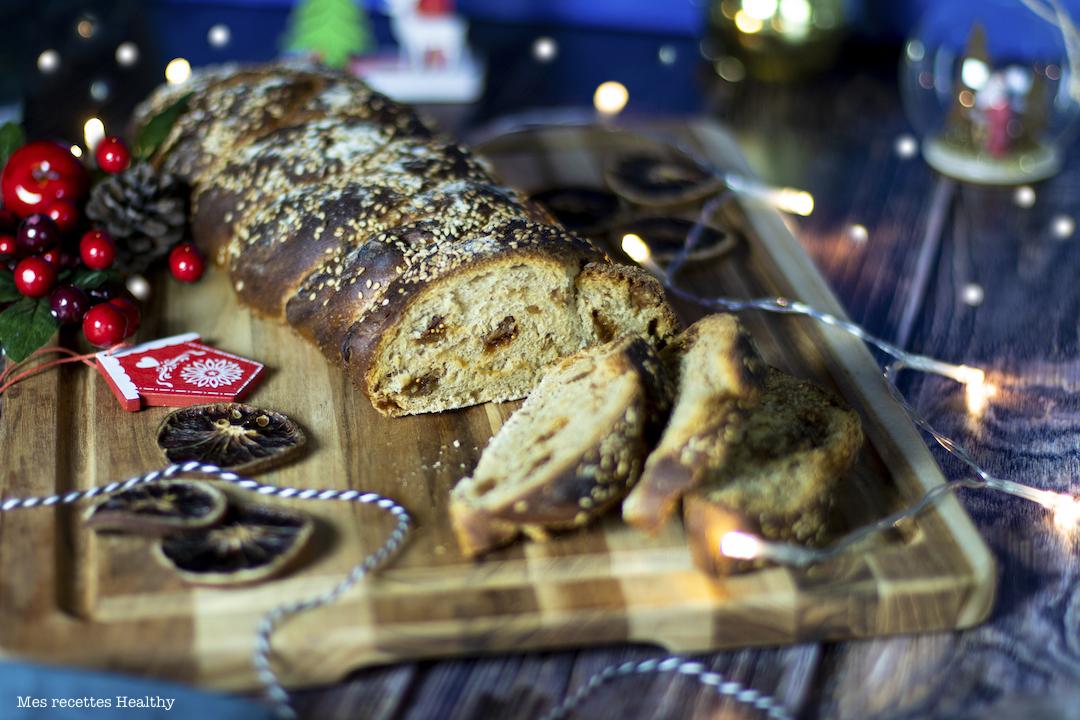 recette healthy-pain-boulangerie-pain aux figues-foie gras-noel-brioche-pain maison tresse