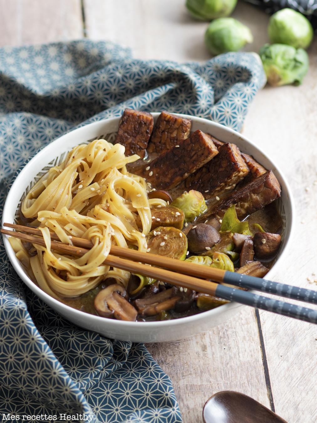 recette healthy-ramen-nouille chinoise-legume-vegetarien-tempeh-japonais
