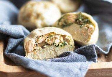 briorecette healthy-pain vapeur-saumon-epinard-ricotta-pain farci