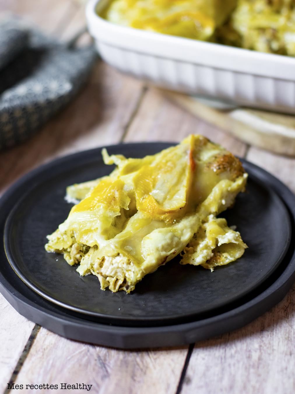 recette healthy-cannelloni-reblochon-fromage-poulet-brocolis