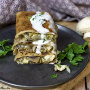 recette healthy-crepe sale-galette-fromage-reblochon-poulet-champignon-poireau