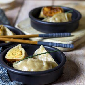 recette healthy-ravioli chinois-indien-fait maison-crevette-epice-coco