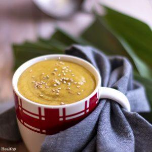 recette Healthy-soupe de légumes-poireau-butternut-ricotta