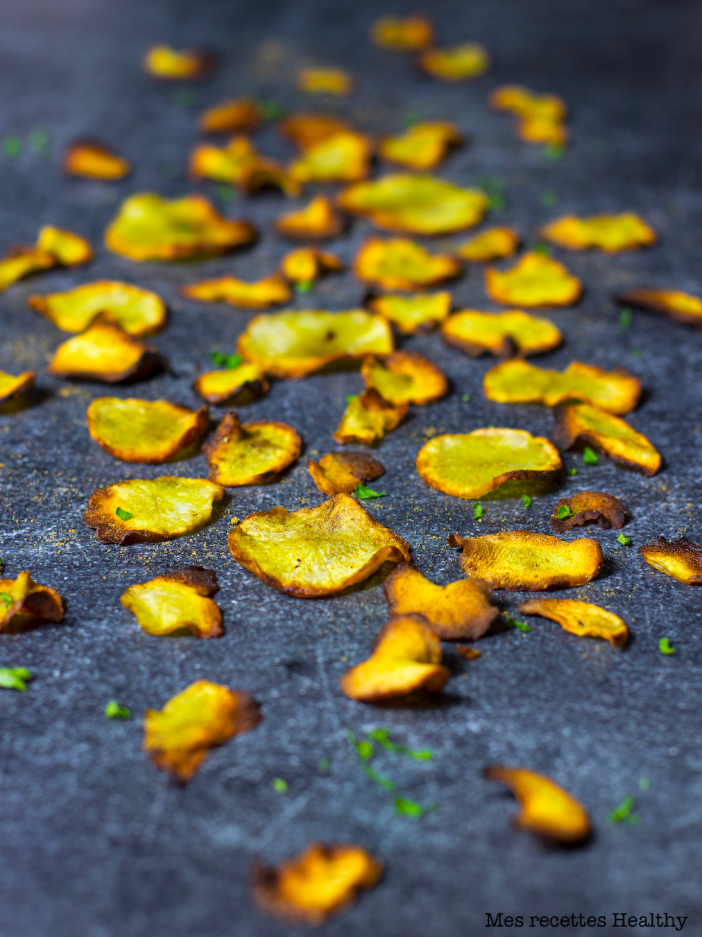 recette healthy-chips de topinambour-epice-curry-cumin-curcuma-aperitif