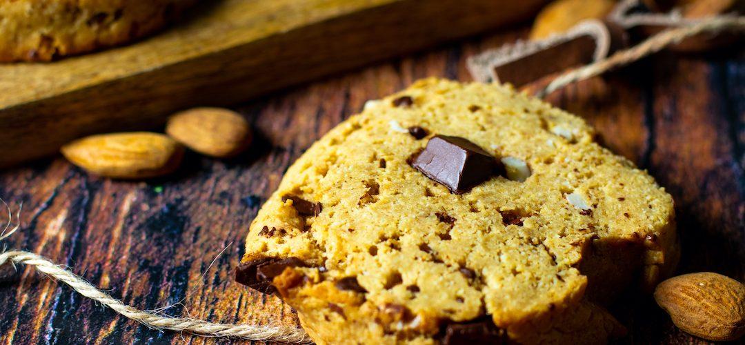 recette healthy-cookie moelleux-beurre de cacahuète-chocolat-amande-sans beurre-sable-biscuit