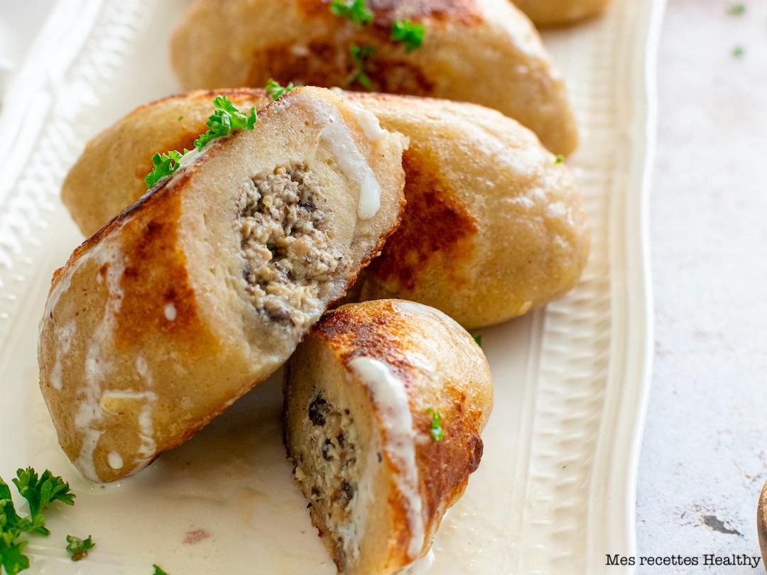 recette healthy-gnocchi maison-fromage-parmesan-poulet-champignon-quennelle-pomme de terre