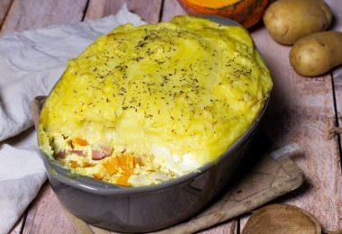 recette Healthy-hachis Parmentier-legume-bacon-chevre-fromage-potimarron