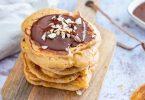 recette healthy-pancake moelleux-pomme-noisette-cannelle petit déjeuner