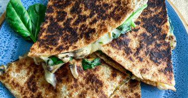recette healthy-quesadillas-fromage-epinard-champignon