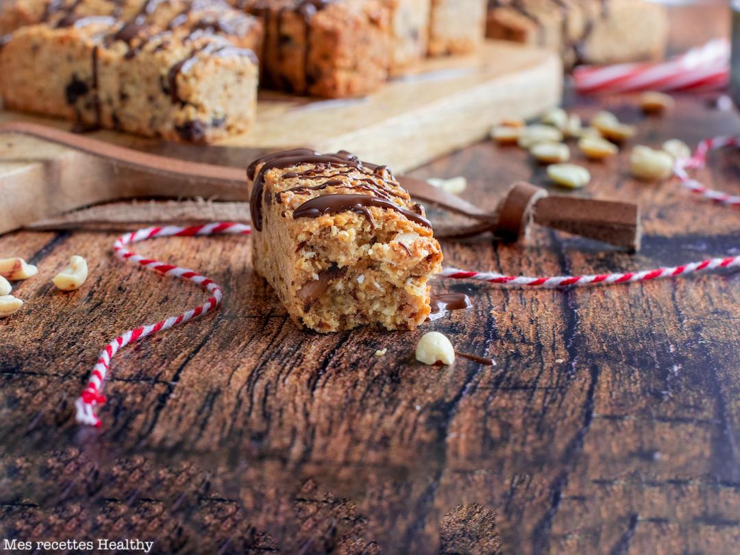recette healthy-barre de cerebral-cacahuete-chocolat-coco