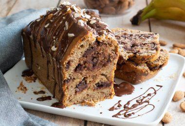 recette healthy-cake à la banane-chocolat-amande-moelleux-gateau