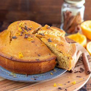recette healthy-gateau moelleux-orange-chooclat-agrume