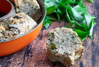 recette healthy-ail des ours-pain maison à l'ail des ours