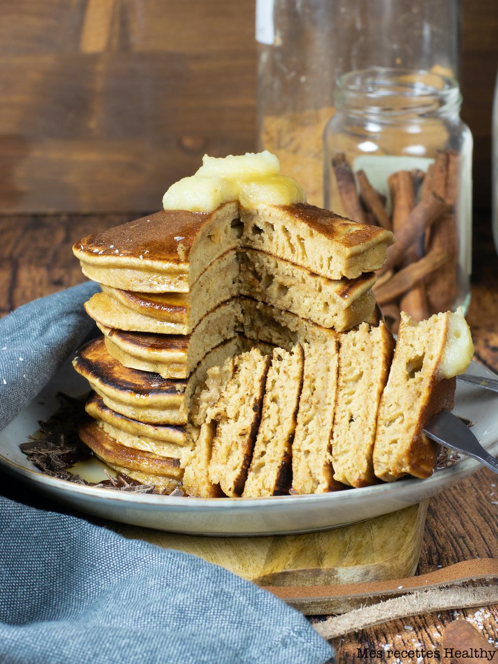 recette healthy-pancake moelleux-ricotta-noisette-petit déjeuner