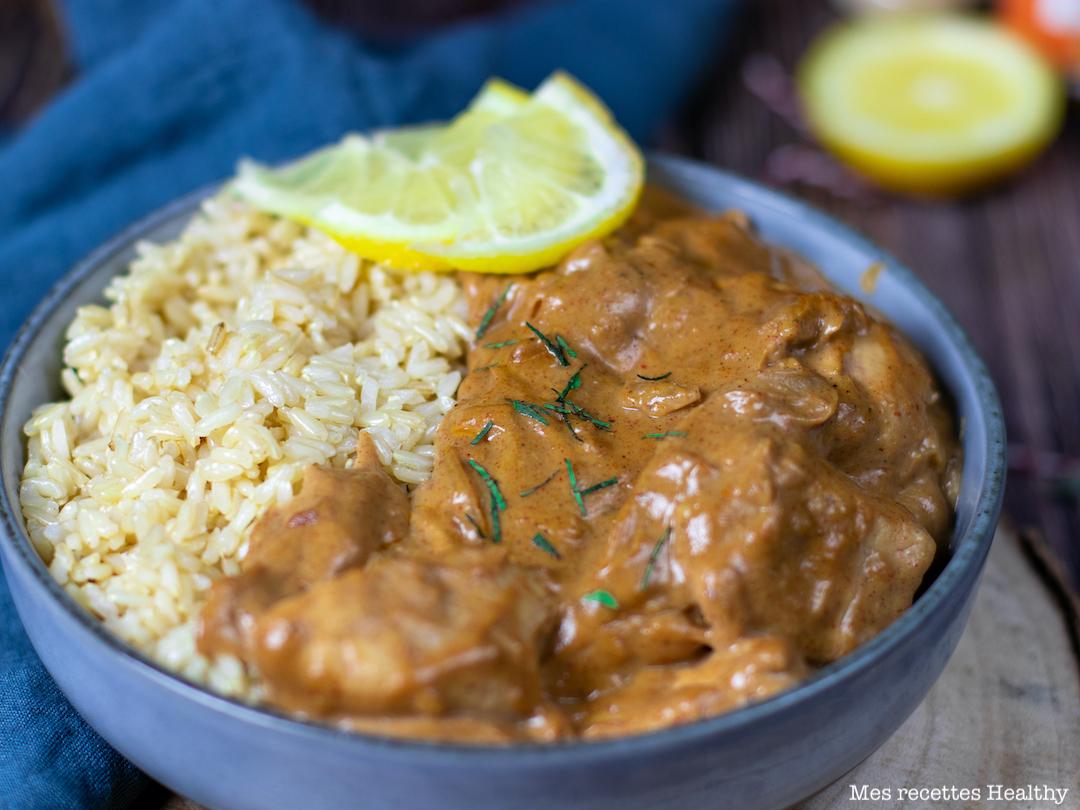 recette Healthy-poulet garam masala-riz-