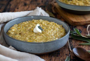 recette healthy-risotto poireau-chevre-fromage-riz complet