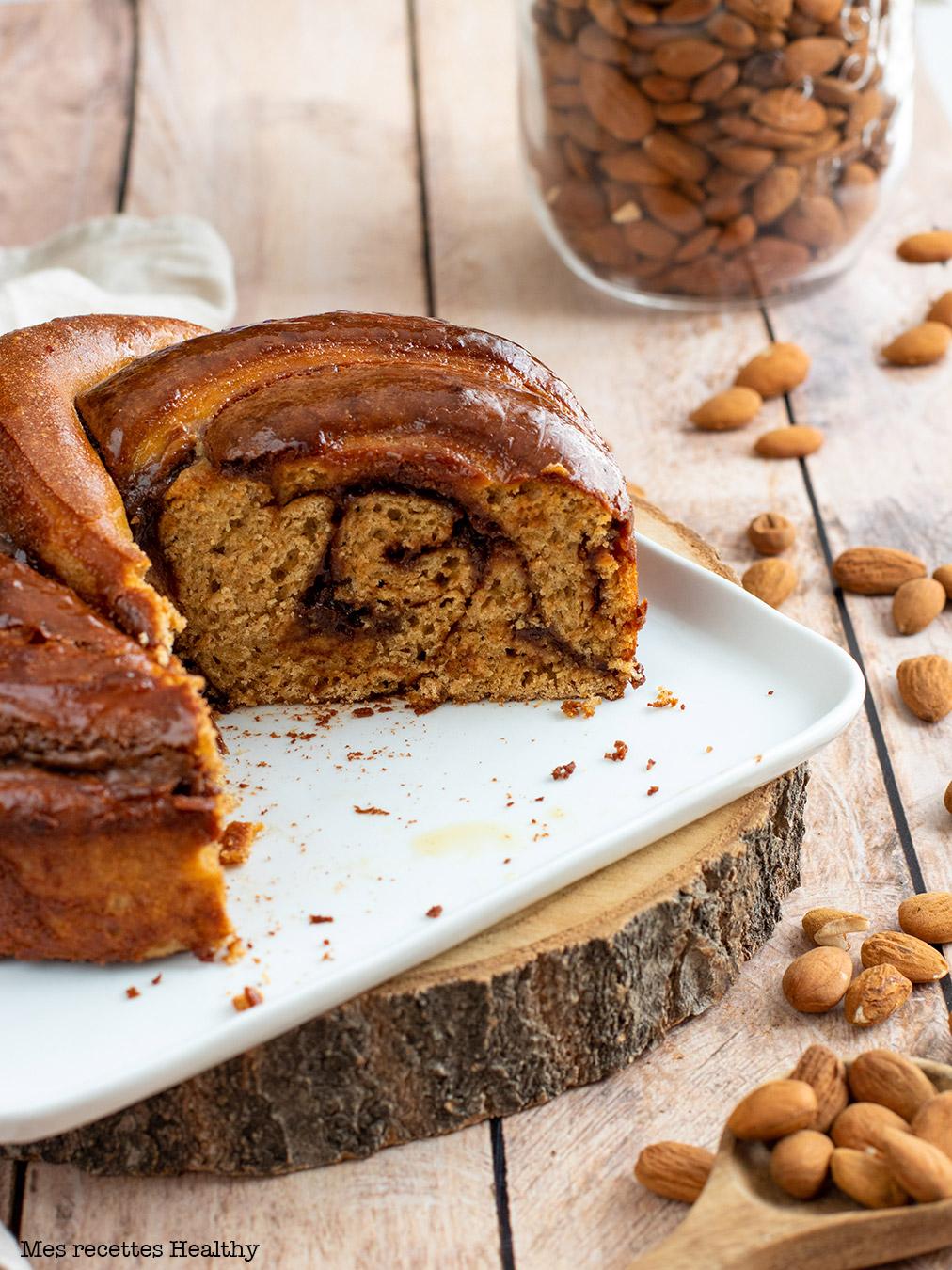 recette healthy-brioche à la pâte à tartiner-chocolat noisette