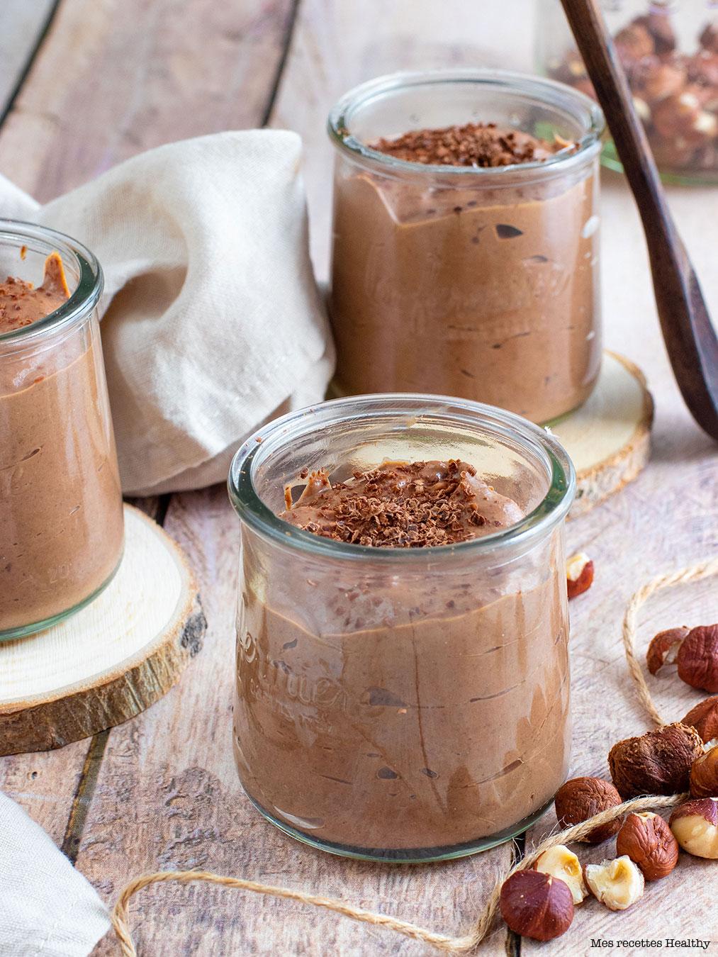 recette healthy-creme dessert vegan-chocolate-noisette-sans lait-sans oeuf-sans gluten