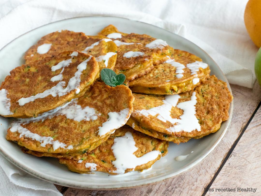 recette healthy-galette de courgette-curry-epice-leger