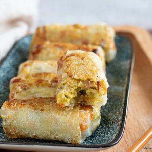 recette healthy-nem aux pois-riz-bacon-riz cantonnais