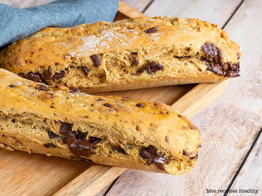 recette healthy-pain au lait-chocolat-sans beurre-fleur orange