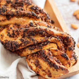 recette healthy-pain maison-pain tresse-amande-tomate-olive