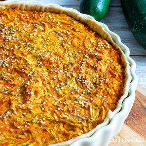 recette healthy-quiche sans boeuf-tofu-carotte-courgette-curry